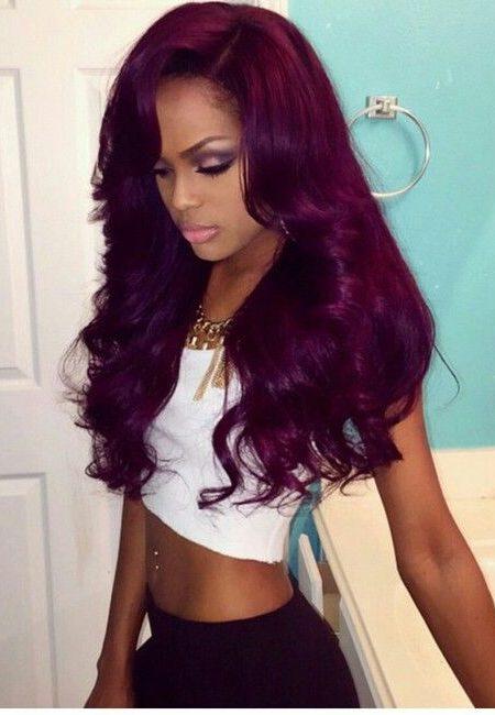 Deslumbrantes idéias ousadas Cor de cabelo para mulheres negras