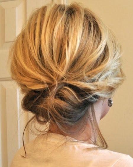 Tender Updos para cabelos de comprimento médio