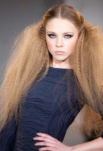 volumoso penteado frisado