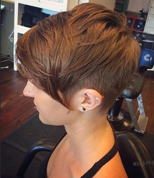 Penteados para cabelo curto com Bangs-10