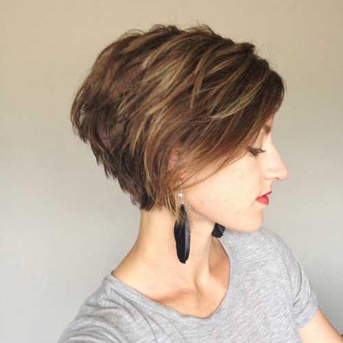 Long Pixie corte de cabelo para cabelo grosso-10