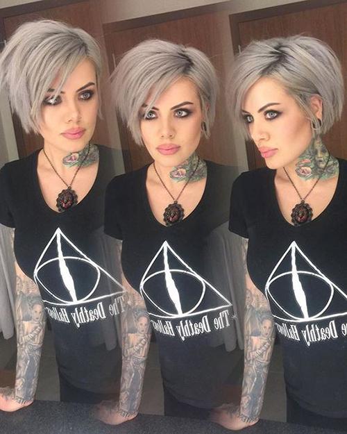Styles-9 Curto cabelo cinzento