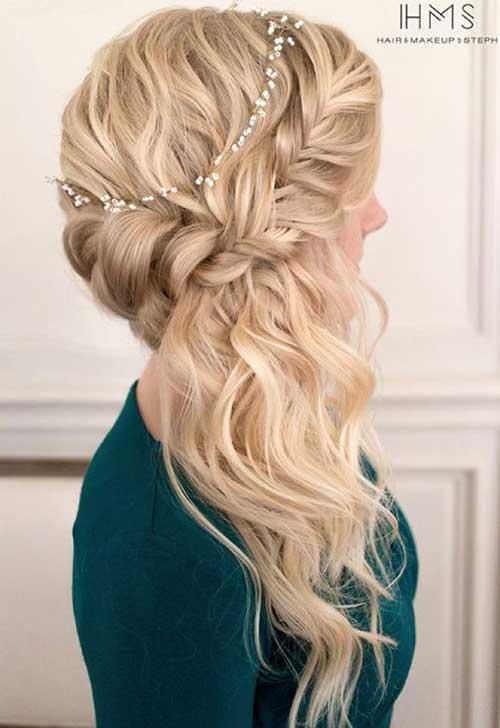 Estilos de cabelo de casamento para Long Hair-10