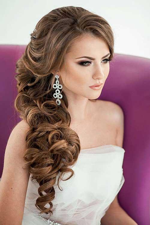 Estilos de cabelo de casamento para Long Hair-11
