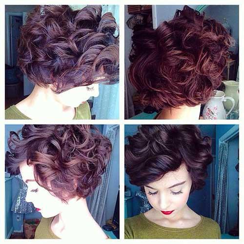 20 penteados curtos do cabelo encaracolado
