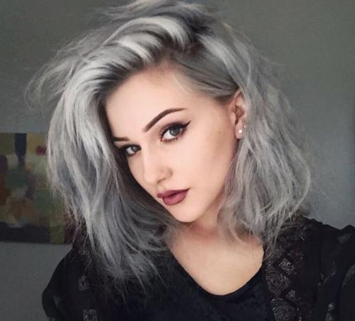 Curto cabelo cinzento Styles-11