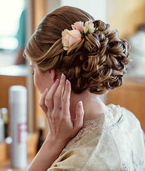 Estilos de cabelo de casamento para Long Hair-12