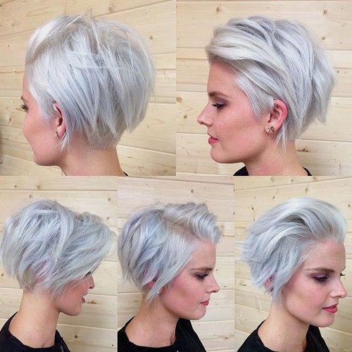 Curto cabelo cinzento Styles-12