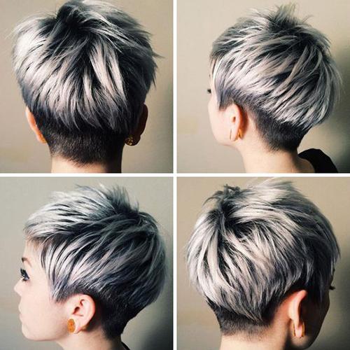 Curto cabelo cinzento Styles-13