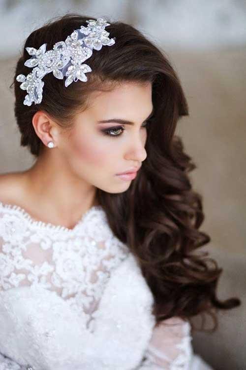 Estilos de cabelo de casamento para Long Hair-14