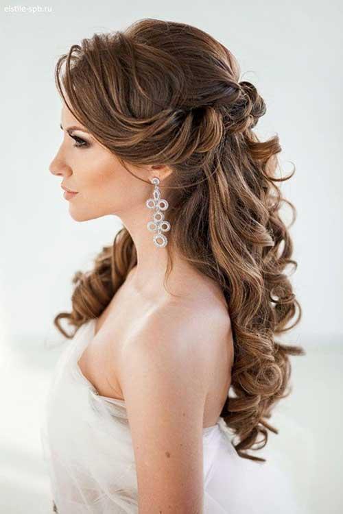 Bridal Cabelo meio Updo-15