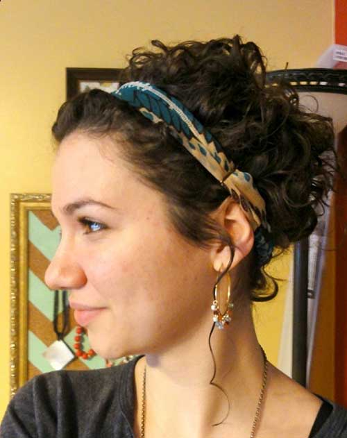 Penteados para cabelo curto encaracolado-15