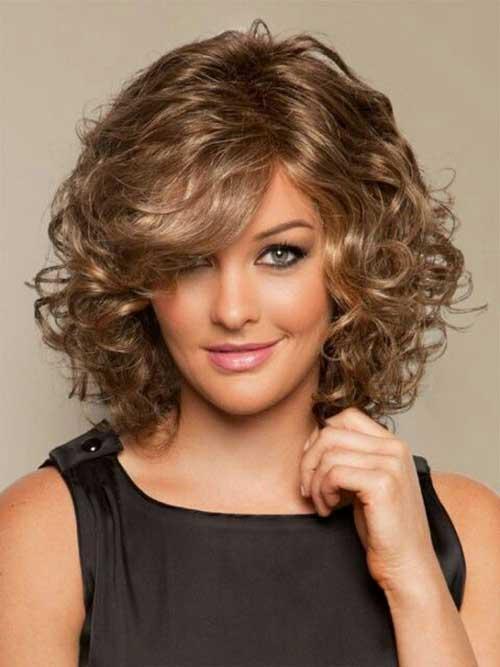 Penteados para cabelo curto encaracolado-17