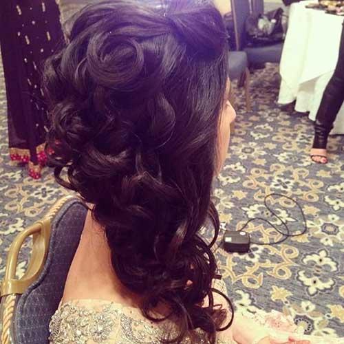 Estilos de cabelo de casamento para Long Hair-17