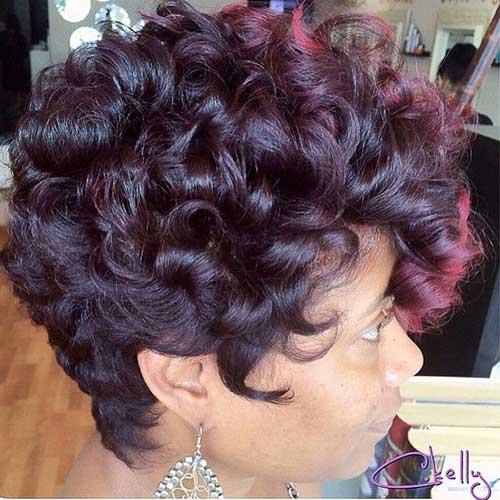 Penteados para cabelo curto encaracolado-18