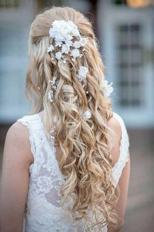 Estilos de cabelo de casamento para Long Hair-18