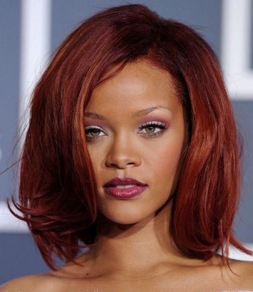 20 Moda Rihanna Bob cortes de cabelo