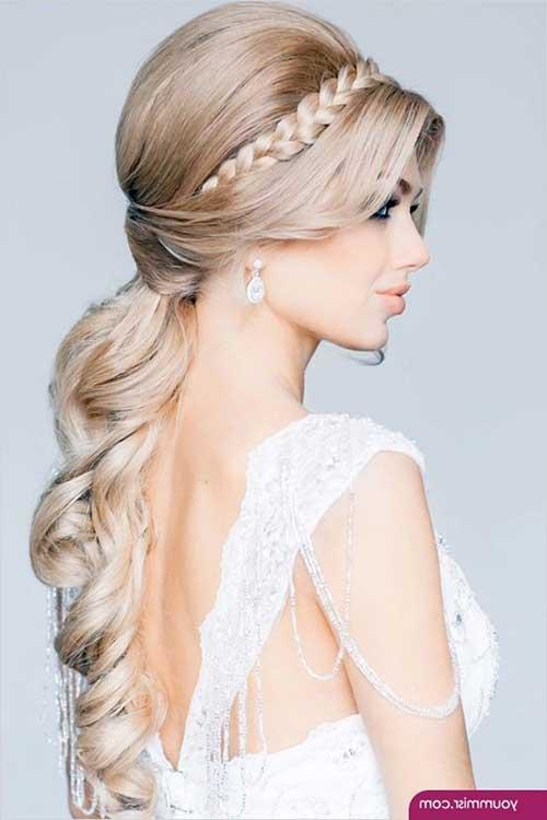 Estilos de cabelo de casamento para Long Hair-22