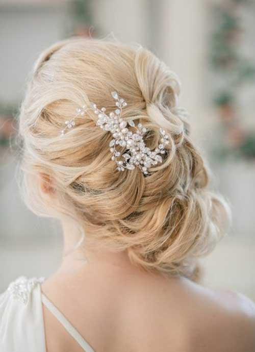 Estilos de cabelo de casamento para Long Hair-25