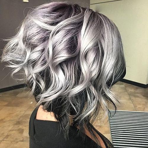 Styles-6 Curto cabelo cinzento