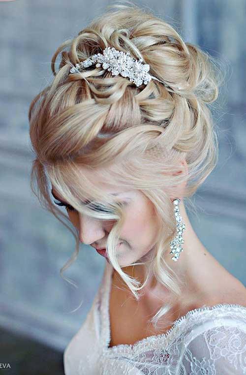 Estilos de cabelo de casamento para Long Hair-6