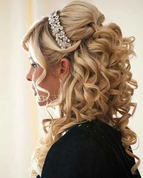 Bridal Cabelo meio Updo-7