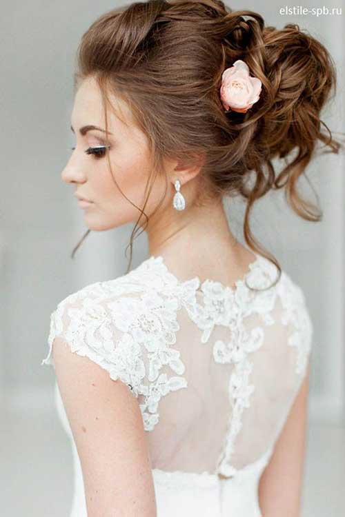 Estilos de cabelo de casamento para Long Hair-7