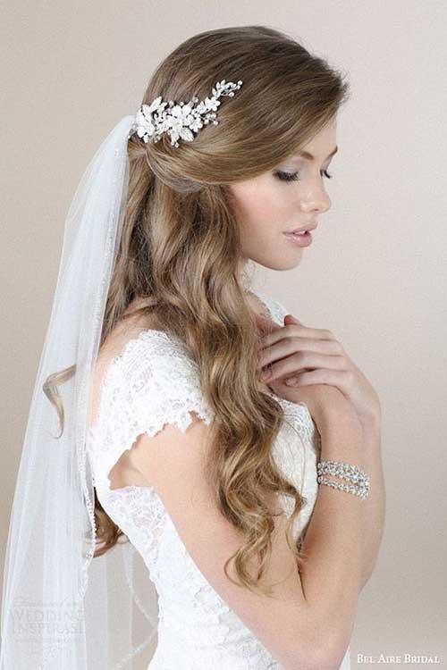 Estilos de cabelo de casamento para Long Hair-8