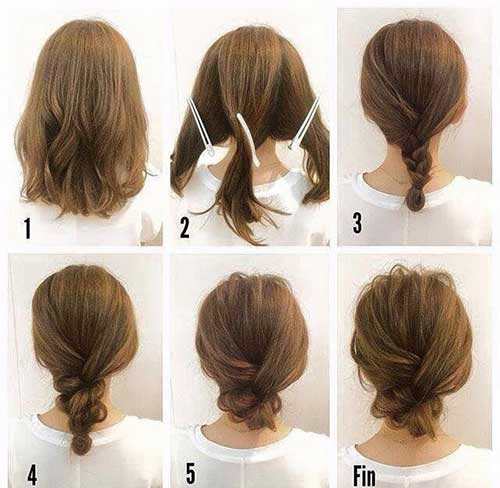 penteados bonitos para Cabelo Curto -9