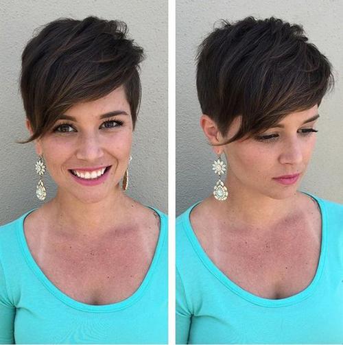 15+ Penteados para o cabelo curto com franja