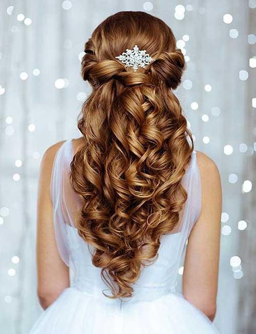 Estilos de cabelo de casamento para Long Hair-9