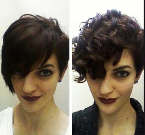 Penteado de cabelo curto encaracolado