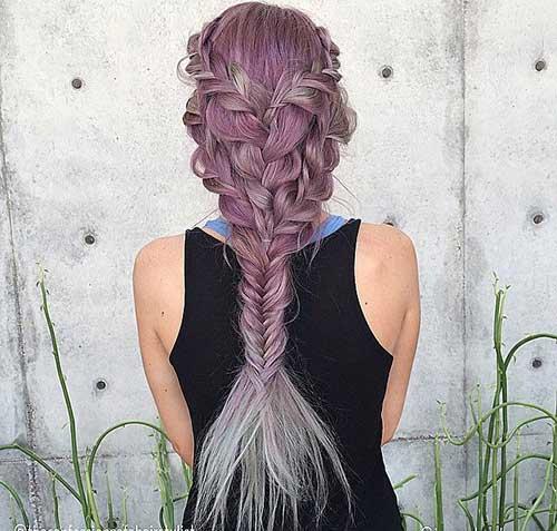 Fishtail tranças Penteados