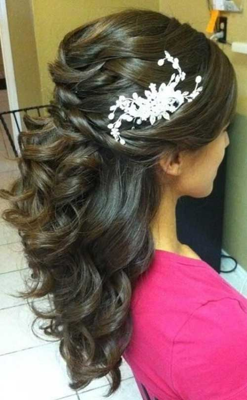 meio preso penteados de noiva