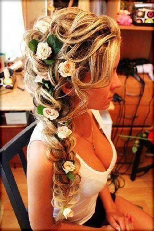 hairstyle longo para o casamento
