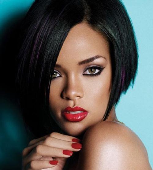 Rihanna Bob penteados