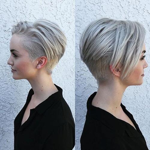 Short cinza cortes de cabelo