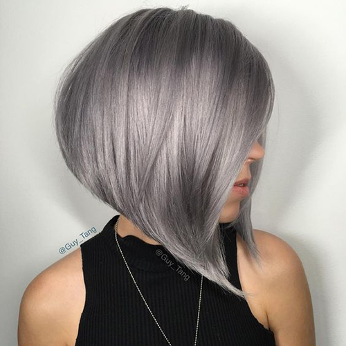 15 Styles Curto Cabelo Cinzento