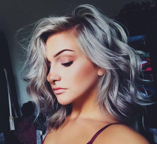 Curtas Penteados para cabelos Grey