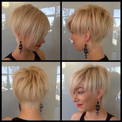 Estilos de cabelo curto e reto
