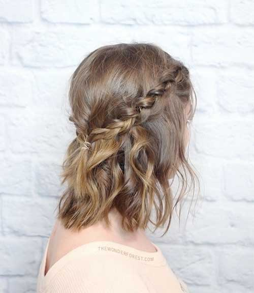 Short ondulado penteado