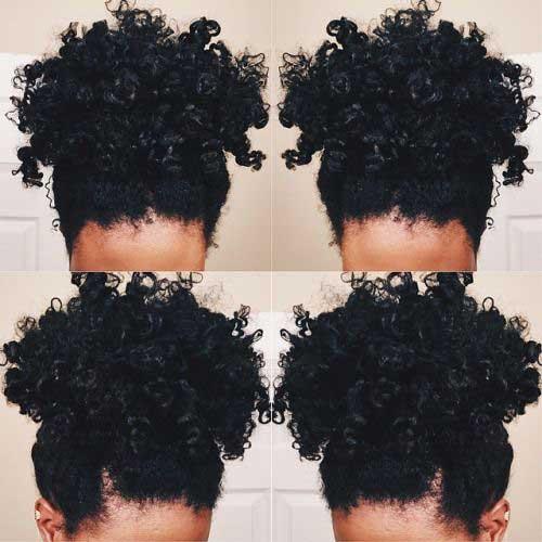 15+ Naturais Curtos Curly penteados