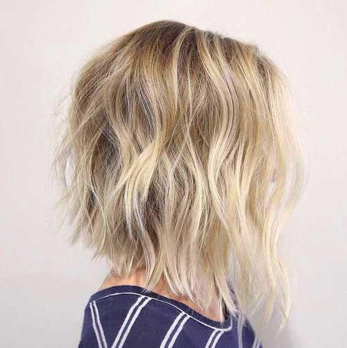 Shaggy curtos cortes de cabelo