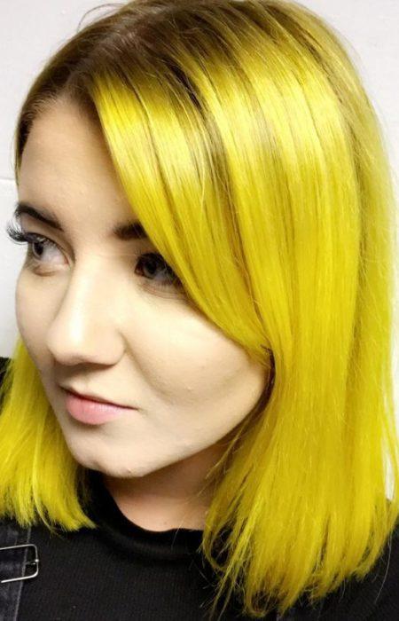 Amarelo Brilhante Tranças