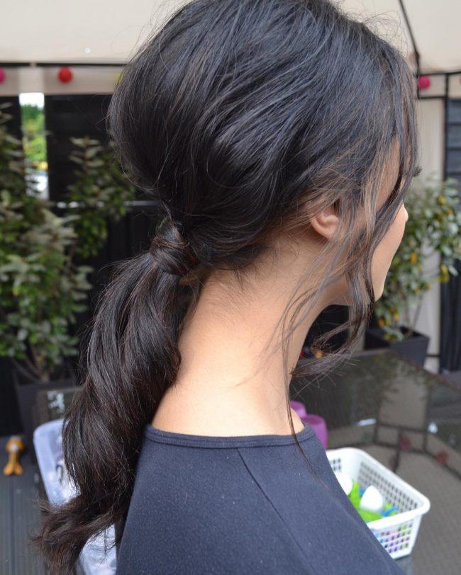 Rabo de cavalo bagunçado Penteados para Mulheres