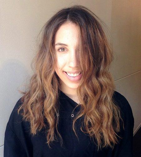 comprimento Médio Trepada Corte de cabelo