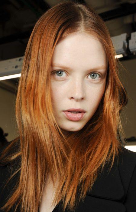 red pumpkin spice cabelo