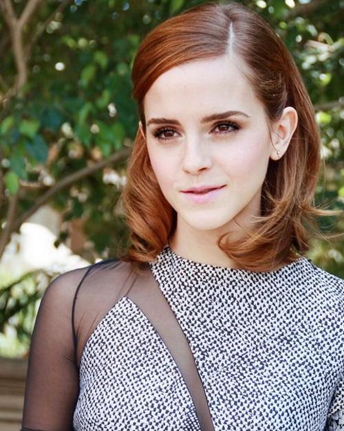 2017 Emma Watson Médio do Lado e partiu Demo