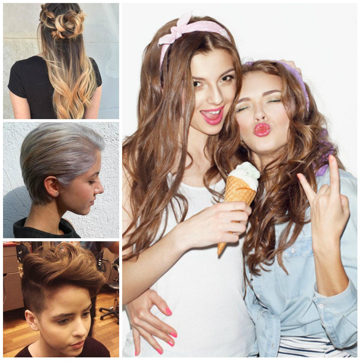 2017 Elegante, Penteados e Cortes de cabelo para Meninas Adolescentes