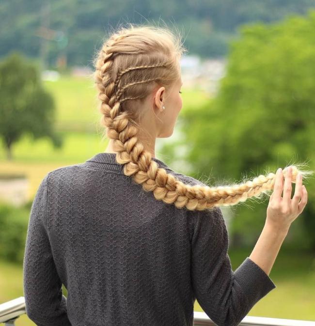 Simples Trança de Lado Penteados para 2017